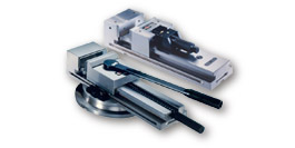 Mechanical, hydropneumatic and hydraulic modular vices for milling machines and machibung centres, grinding vices
