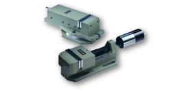 Mechanical, hydropneumatic and hydraulic vices for drills and drilling/milling machines